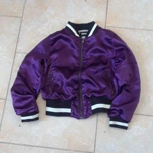 Hudson  girls purple bomber jacket size small or 6